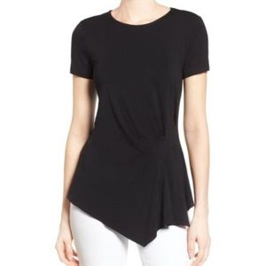 Vince Camuto Short Sleeve Asymmetrical Top